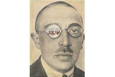 Osip Brik, diseño para la portada de la revista LEF, 1924