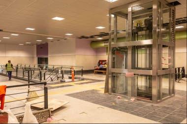 El ascensor de la nueva estacin Catalinas