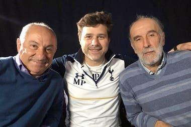 Pochettino con Ardiles y Villa, dos argentinos que hicieron historia en Tottenham. Como él.