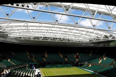 Una postal de lo que será Wimbledon este año que no disputará su torneo como venía haciéndolo de manera ininterrumpida desde 1946