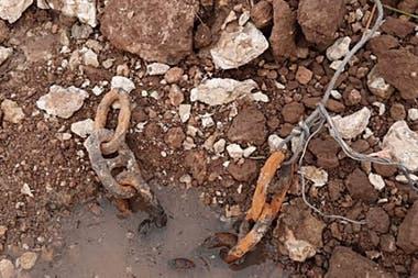 Las cadenas fueron halladas por un pescador
