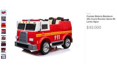 El camión cuesta 93 mil pesos en caso de pagarlo en un solo pago o 116 mil en 18 cuotas