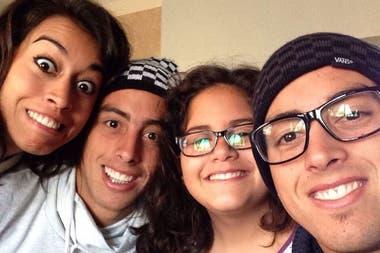 Los 4 hermanos Funes Mori: Martina (un año menor que los Melli), Ramiro, Serena y Rogelio