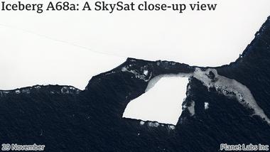 El iceberg se ha fragmentado, pero no tanto como esperaban los científicos