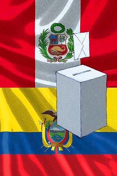 Perú y Ecuador van a las urnas