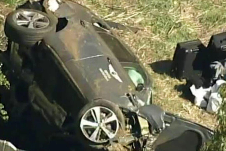 Tiger Woods: las imágenes más impactantes del accidente automovilístico que sufrió