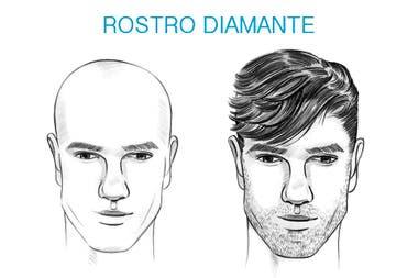 Cara de diamante cortes de pelo