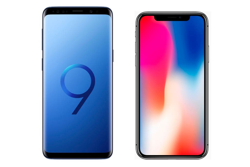 Beeldresultaat voor samsung s9 vs iphone x