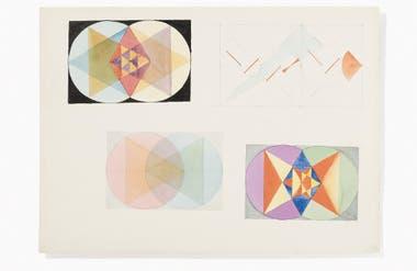 Dibujo atribuido a Marianne Ahlfeld-Heymann. Clases de teoría de la forma pictórica dictadas por Paul Klee, 1923/24