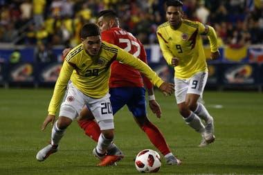 Quintero en acción: fue clave en el triunfo ante Estados Unidos y jugó 71´contra Costa Rica