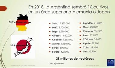 La siembra de los 16 cultivos en la Argentrina