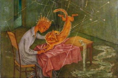 Detalle de Simpatía (La rabia del gato), de Remedios Varo (1955), comprada por Costantini