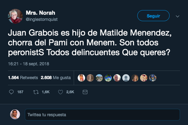 Un tuit que desinforma sobre el origen de Grabois