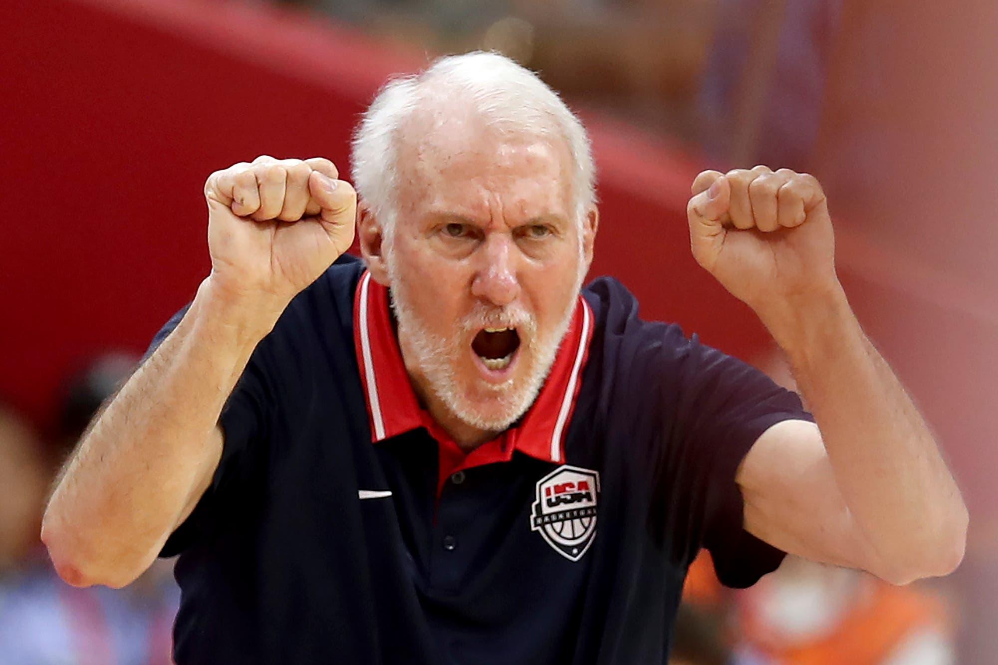 Mundial de básquet. La molestia de Popovich por una pregunta sobre las estrellas ausentes tras la eliminación de Estados Unidos