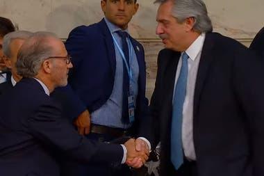 El juez Carlos Rosenkrantz y el presidente Alberto Fernández