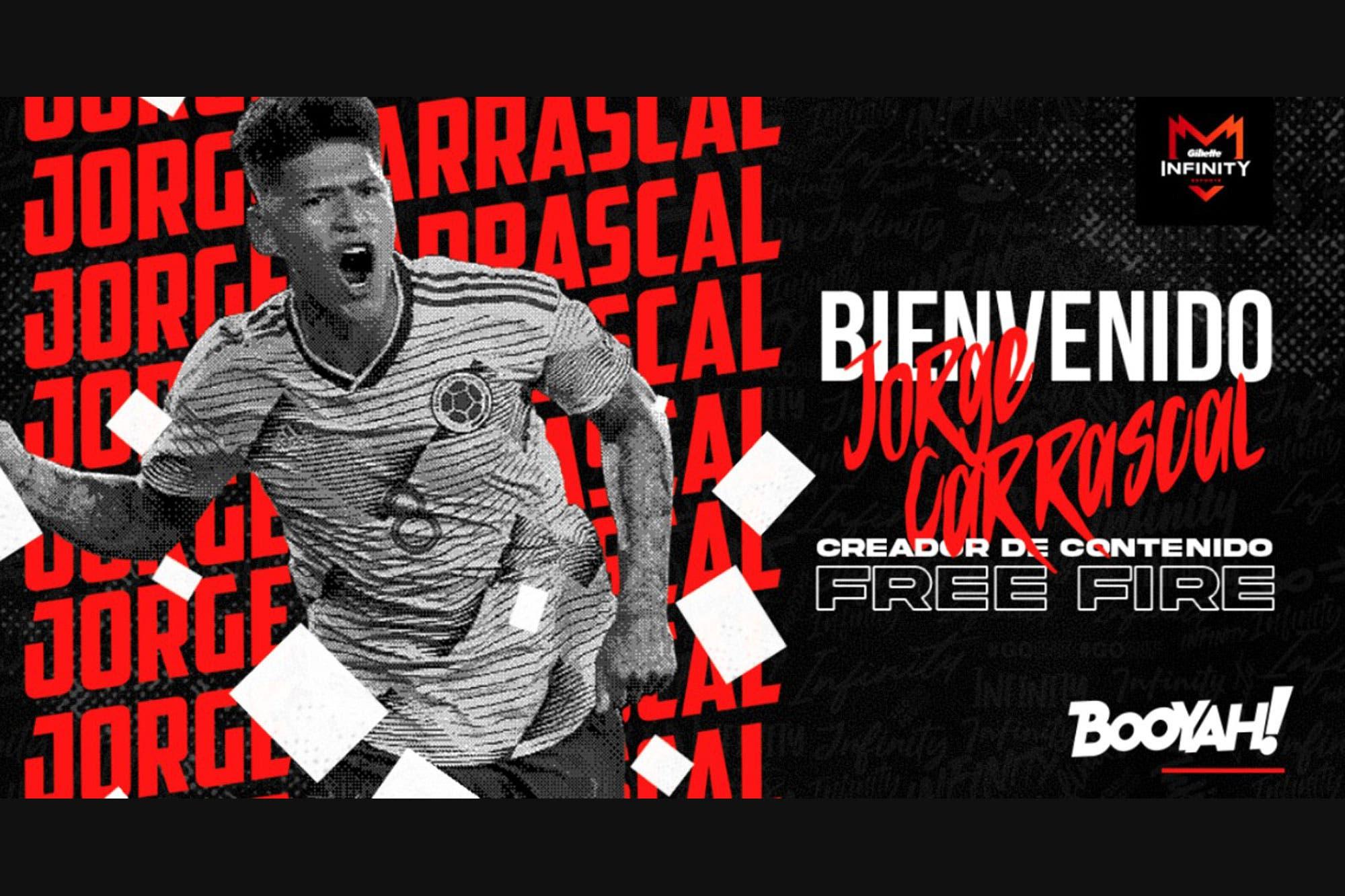 De futbolista a gamer: el jugador Jorge Carrascal de River Plate se convierte en streamer del videojuego Free Fire