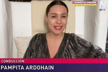 A raíz de lo sucedido con una de sus panelistas, Pampita hizo hoy su programa desde su casa