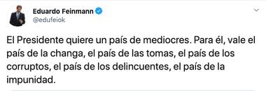 El celebrado tuit de Feinmann
