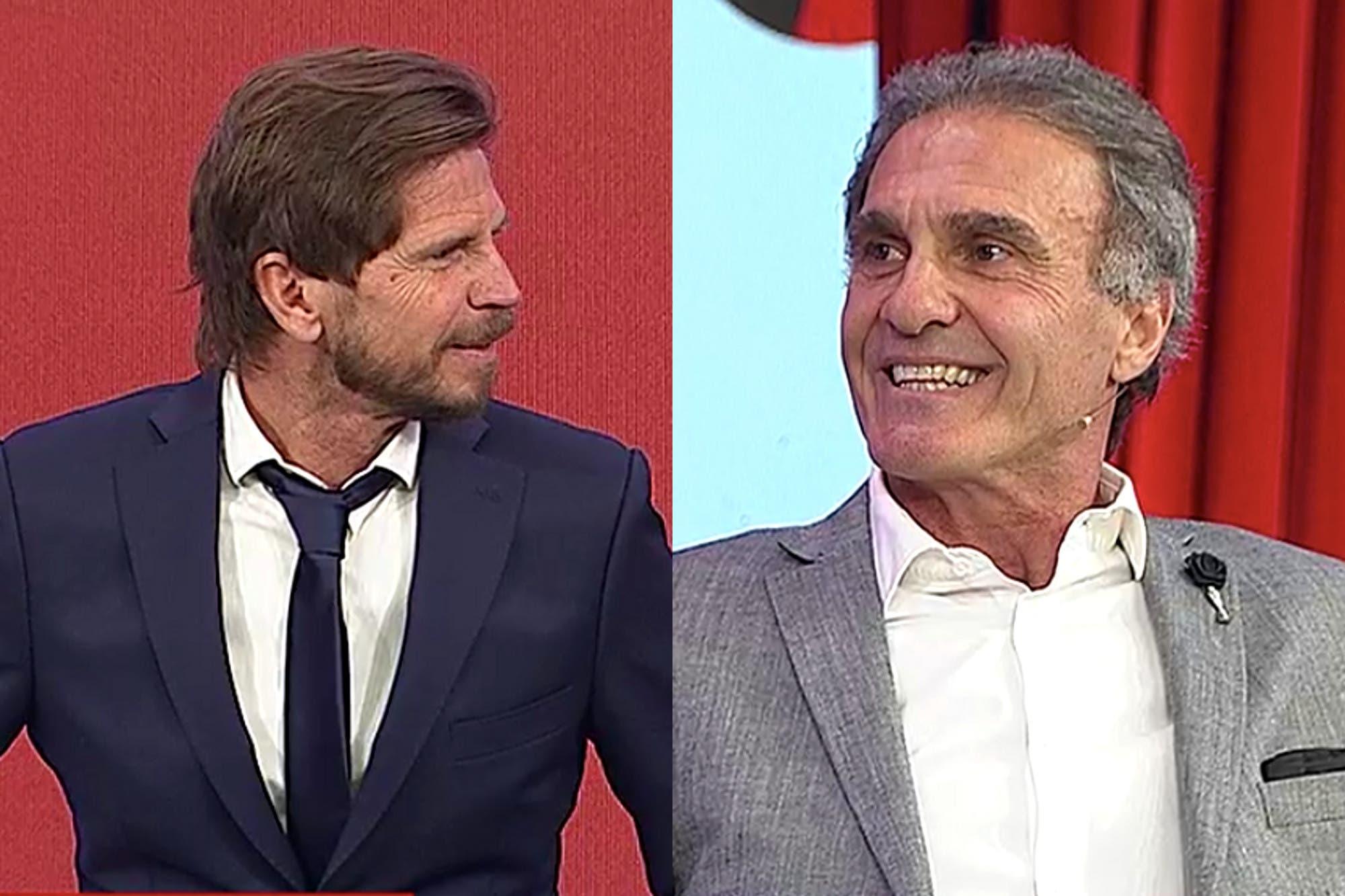 """""""¿Hoy es un homenaje a vos?"""": Oscar Ruggeri chicaneó al Pollo Vignolo y contó que Ricardo Gareca lo llamó para felicitarlo por el cambio en 90 Minutos"""