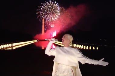 Katy Perry fue la encargada de cerrar la gran noche de asunción del nuevo presidente estadounidense