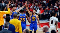 NBA: otra exhibición de Stephen Curry para la barrida de Golden State a Portland en los playoffs