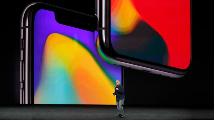 Los bordes del iPhone X