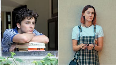 Timothée Chalamet y Saoirse Ronan, nominados como mejores intérpretes por Call Me By Your Name y Lady Bird, respectivamente