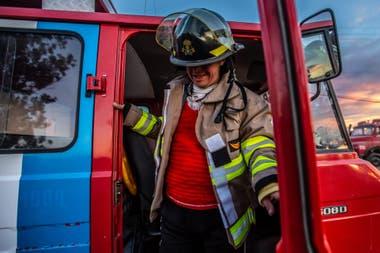 Ángel Ortega bombero voluntario