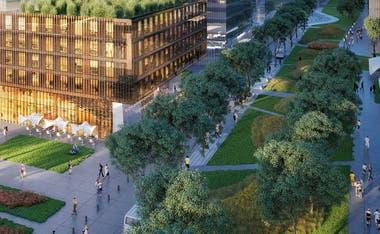 Habr espacios verdes y edificios