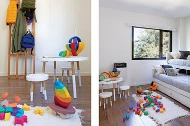 El cuarto de los chicos -al igual que toda la plata alta- tiene piso flotante 'Kronotex Roble Gala Braun D-4784' (Pisos Alemanes), de fácil cuidado.Crédito: Javier Picerno