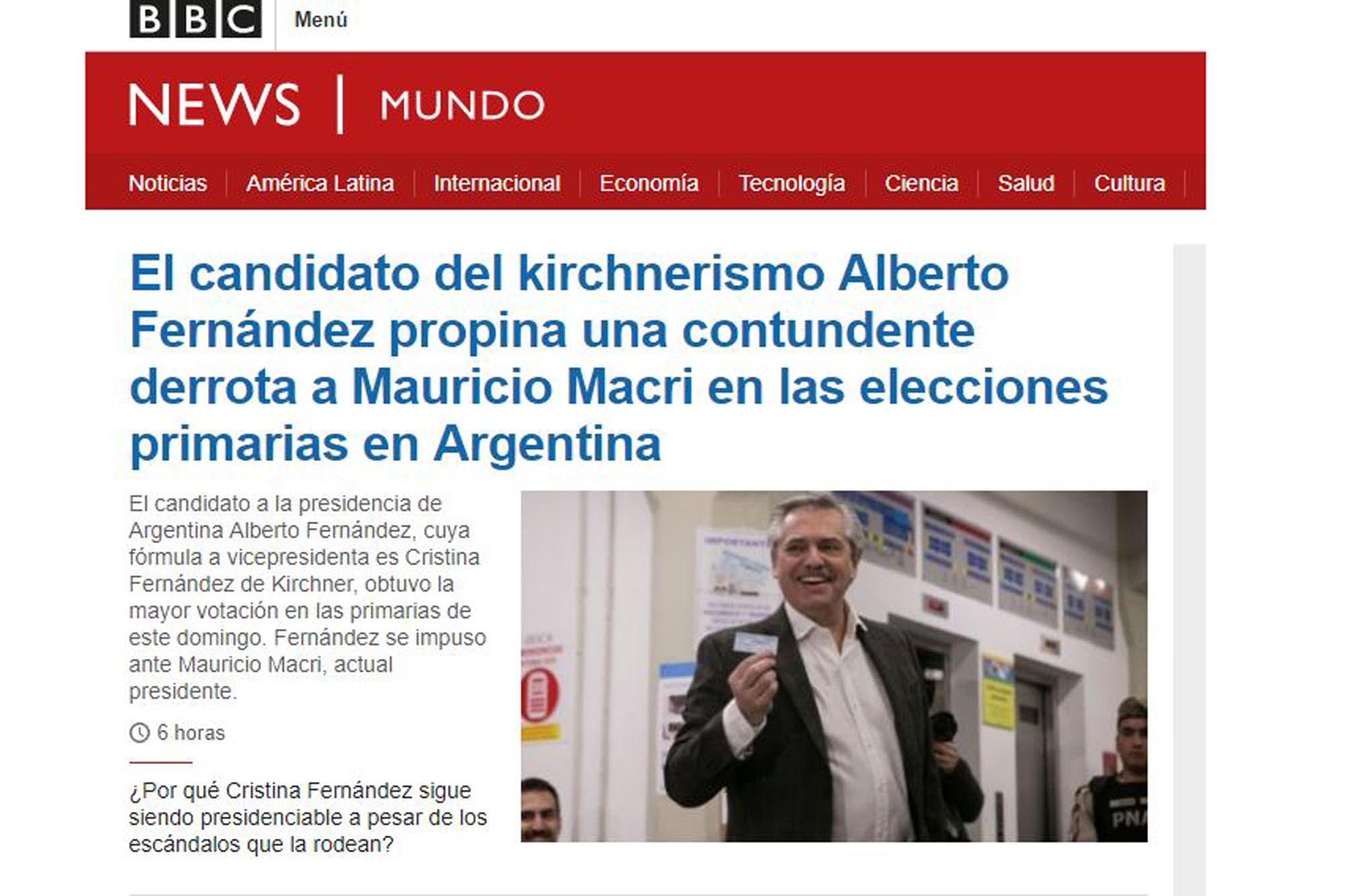 PASO 2019: la repercusión de las elecciones en los diarios del mundo