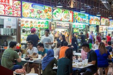 Un típico lugar para ir a comer en Singapur