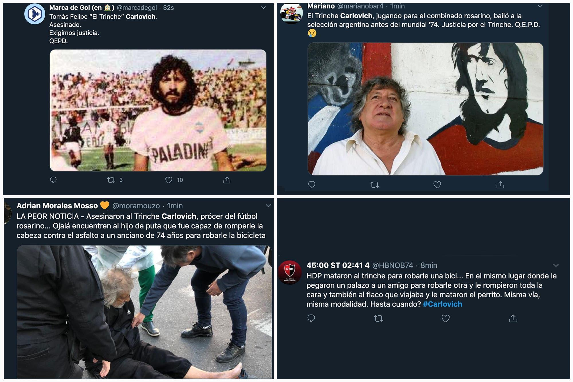 """""""Trinche Carlovich no murió, lo mataron"""": los mensajes de indignación en las redes tras el fallecimiento del mito futbolístico"""