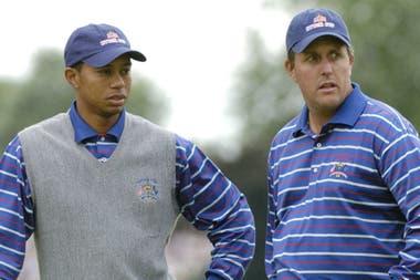 La frustración de los dos en la Copa Ryder 2004