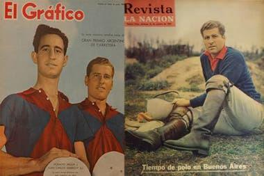 Juan Carlos Harriott en las tapas: la de El Gráfico, junto con Horacio Heguy, y la de la Revista LA NACION, en 1969