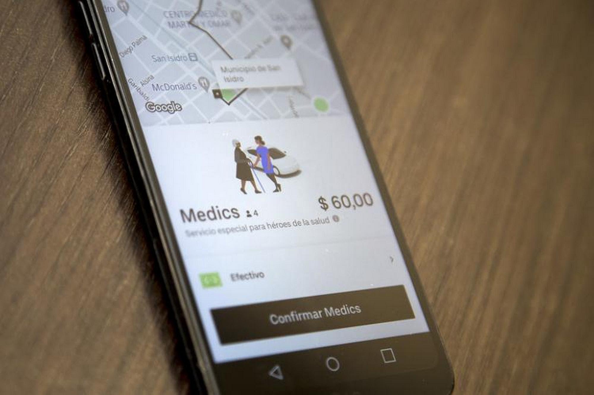 Uber ofrece viajes gratis para el traslado del personal de salud de San Isidro a los hospitales