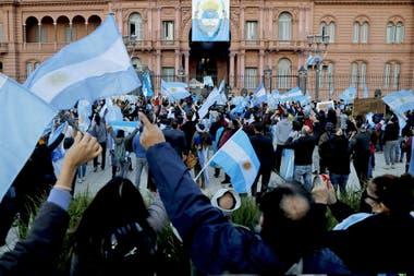 La protesta llegó hasta la Casa Rosada