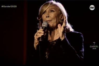 Amelita Baltar en los Premios Gardel 2020