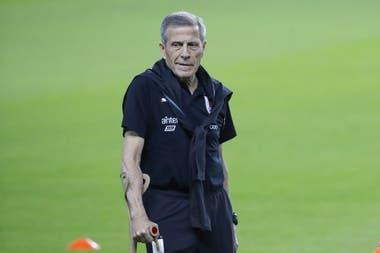 El Maestro Oscar Tabárez, entrenador de la selección de Uruguay