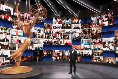 La ceremonia de entrega de los Premios Emmy, este año, fue telemática: solo estuvo en el lugar al anfitrión, Jimmy Kimmel