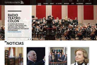 La nueva web del Teatro Colón contará con un servicio de streaming y una radio on line disponible las 24 horas