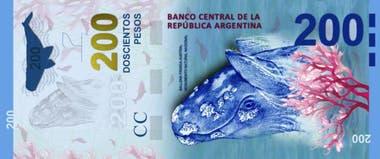 La ballena franca austral, la figura del billete de 200 pesos