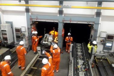 Imágenes del buque Seabed Constructor en el área de búsqueda del submarino ARA San Juan