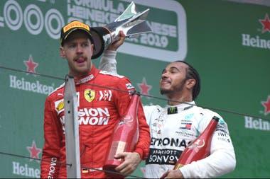 La broma de Hamilton para Vettel