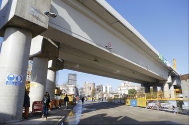 Resultado de imagen para viaducto san martín. abrieron juan b. justo que ahora corre al nivel del suelo