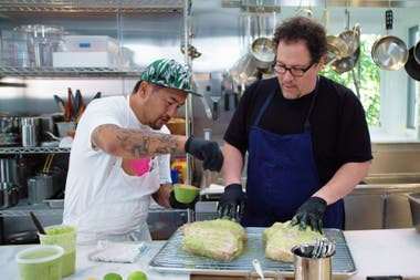 Jon Favreau y Roy Choi en The Chef Show