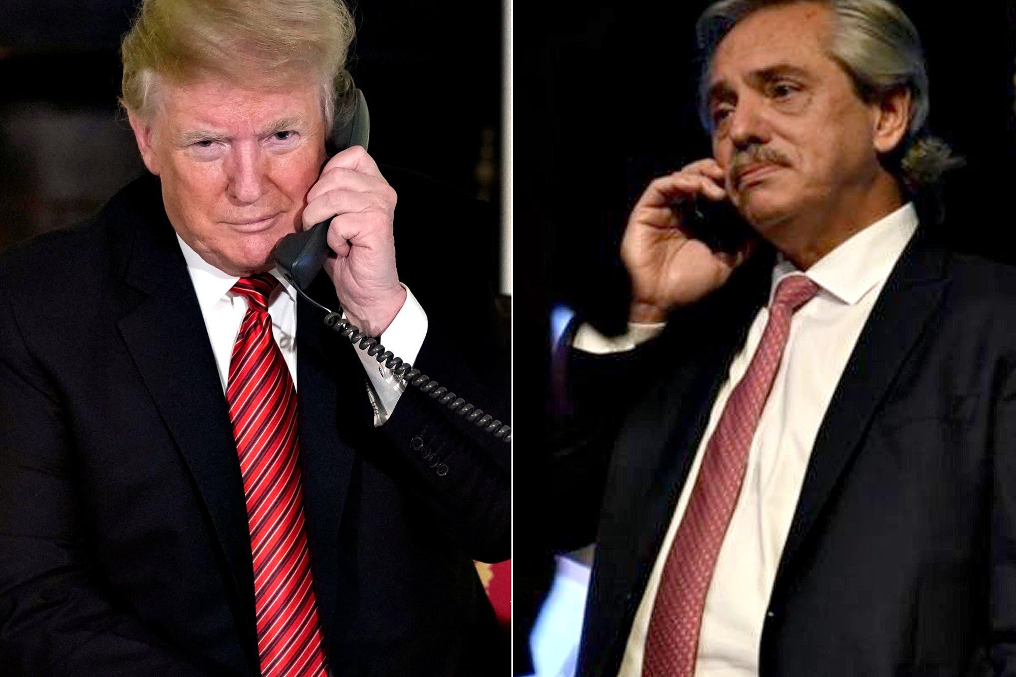 Donald Trump llamó a Alberto Fernández para felicitarlo por su triunfo en las elecciones