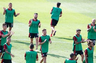 River trabajó este jueves en el estadio de Alianza Lima
