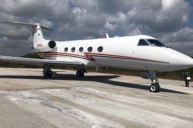 El avión donde fue trasladada la droga