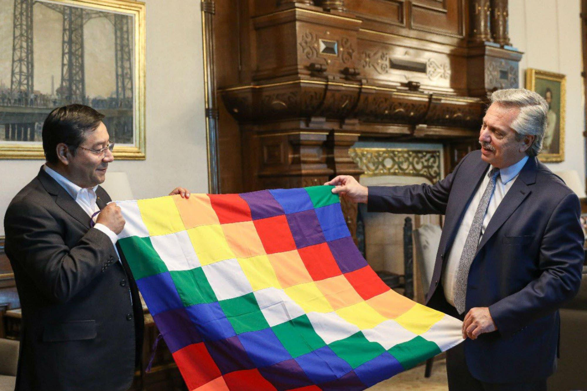 Alberto Fernández recibió al candidato presidencial boliviano del MAS